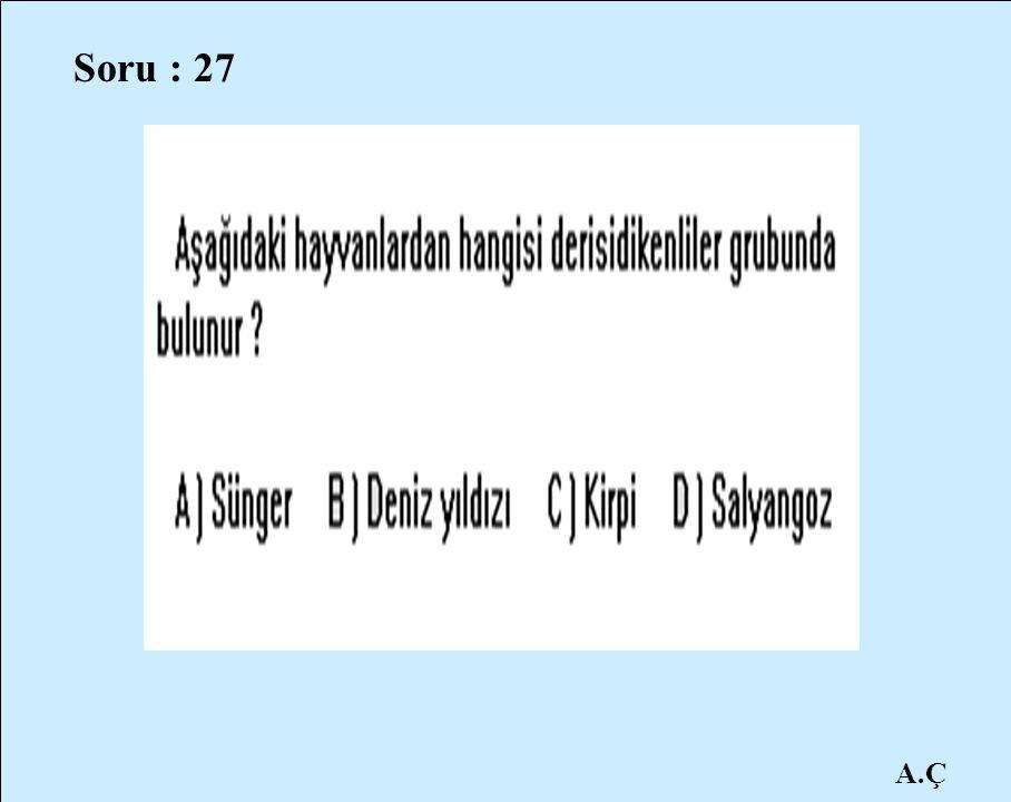 Soru : 27 A.Ç