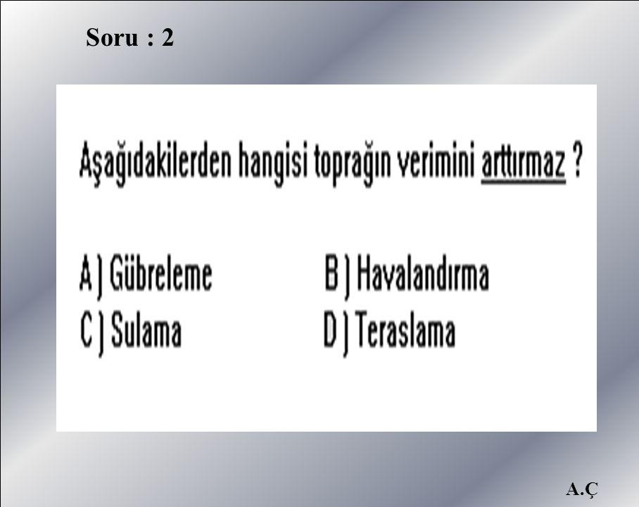 Soru : 2 A.Ç