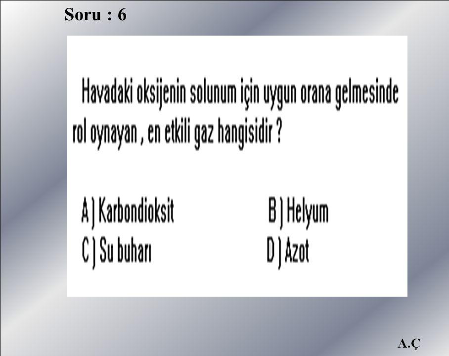 Soru : 6 A.Ç