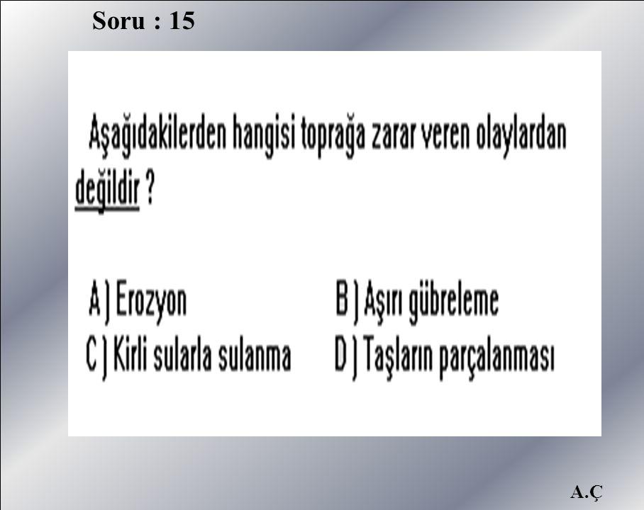 Soru : 15 A.Ç