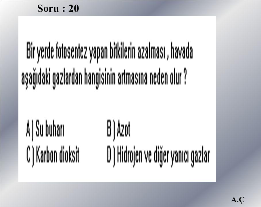 Soru : 20 A.Ç