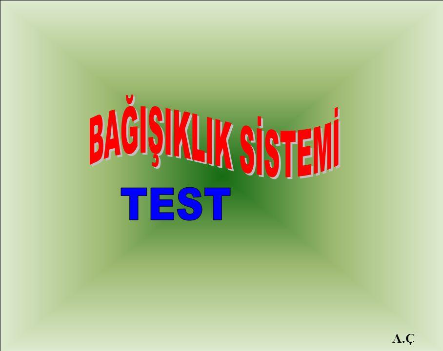 BAĞIŞIKLIK SİSTEMİ TEST