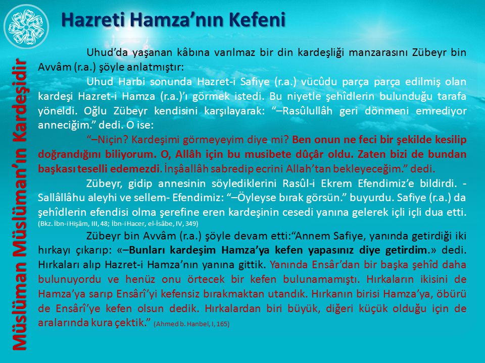Hazreti Hamza'nın Kefeni