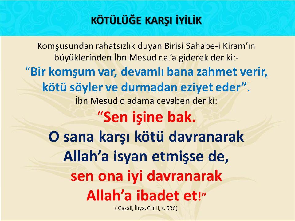 O sana karşı kötü davranarak Allah'a isyan etmişse de,