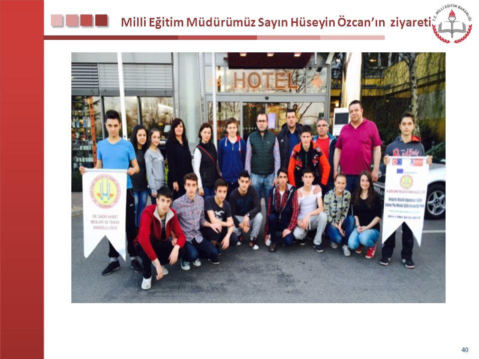 Milli Eğitim Müdürümüz Sayın Hüseyin Özcan'ın ziyareti