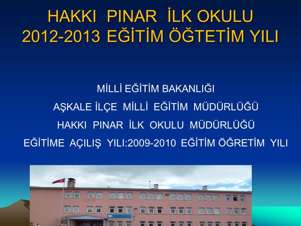 HAKKI PINAR İLK OKULU 2012-2013 EĞİTİM ÖĞTETİM YILI