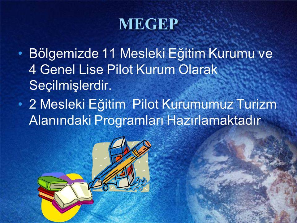 MEGEP Bölgemizde 11 Mesleki Eğitim Kurumu ve 4 Genel Lise Pilot Kurum Olarak Seçilmişlerdir.