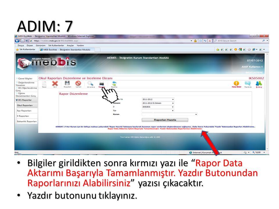 ADIM: 7