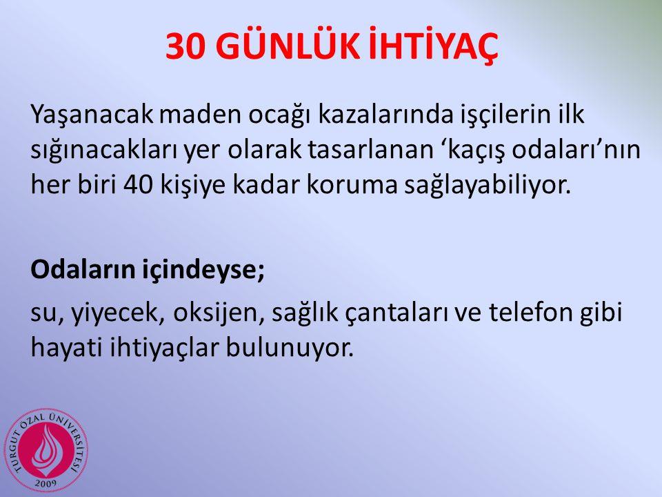 30 GÜNLÜK İHTİYAÇ