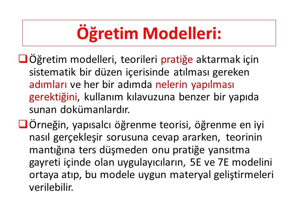 Öğretim Modelleri: