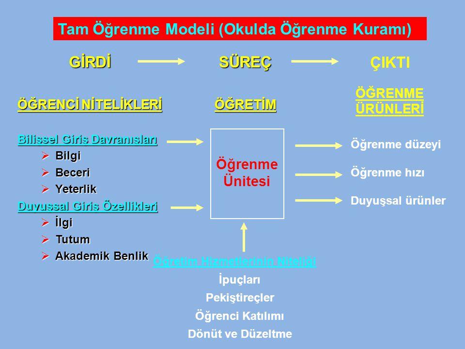 Tam Öğrenme Modeli (Okulda Öğrenme Kuramı)
