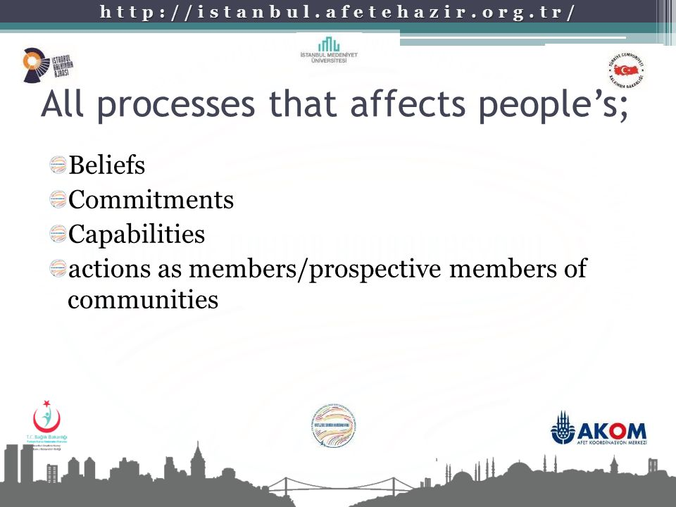 All processes that affects people's;