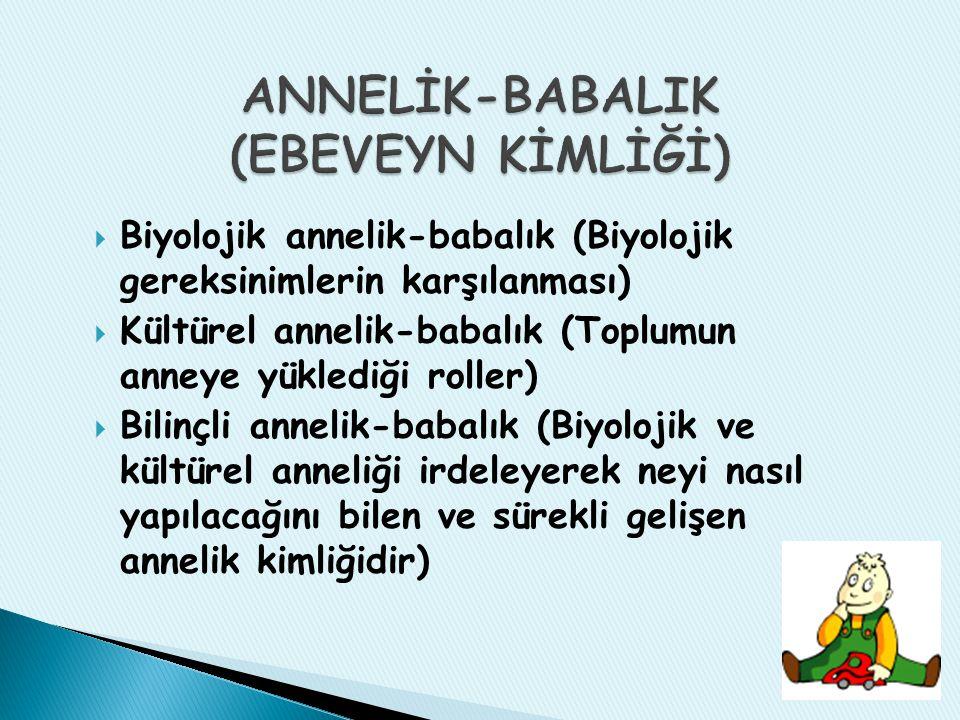 ANNELİK-BABALIK (EBEVEYN KİMLİĞİ)