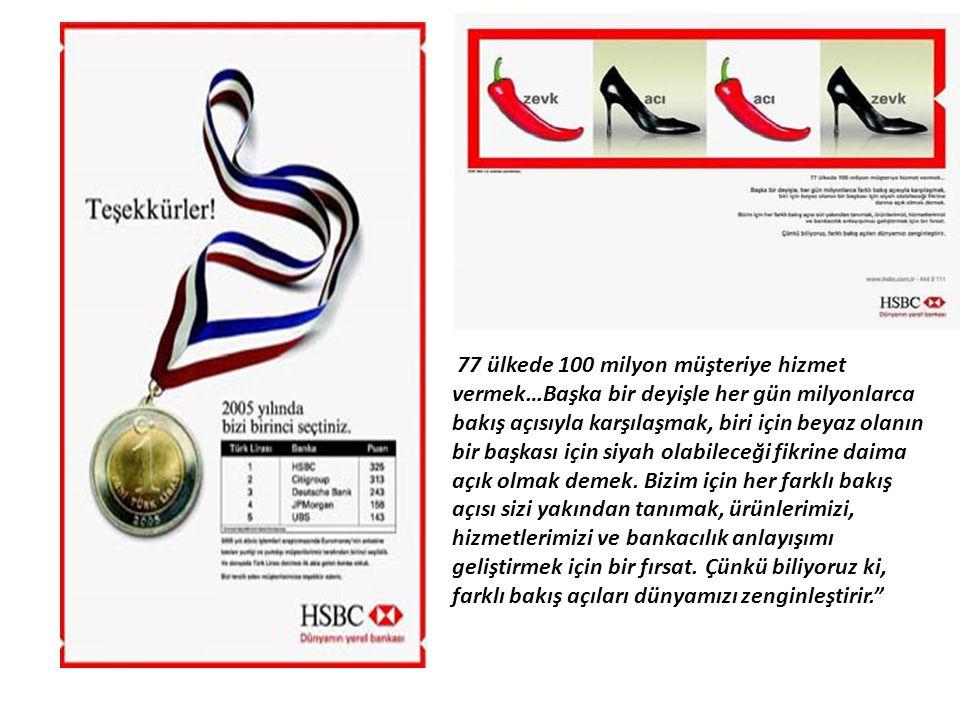 77 ülkede 100 milyon müşteriye hizmet