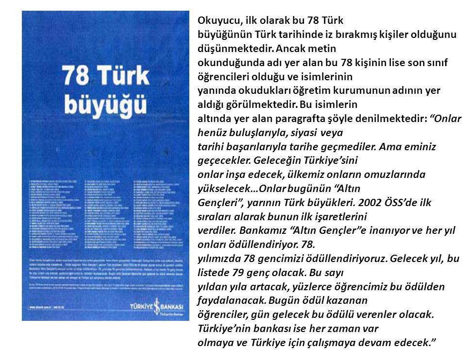 Okuyucu, ilk olarak bu 78 Türk