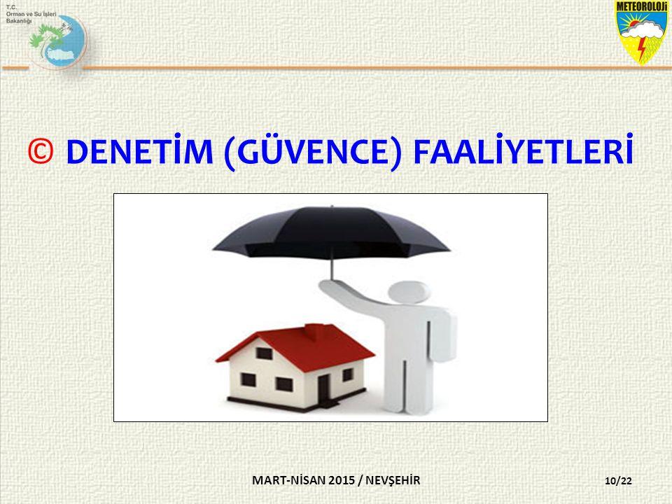 DENETİM (GÜVENCE) FAALİYETLERİ