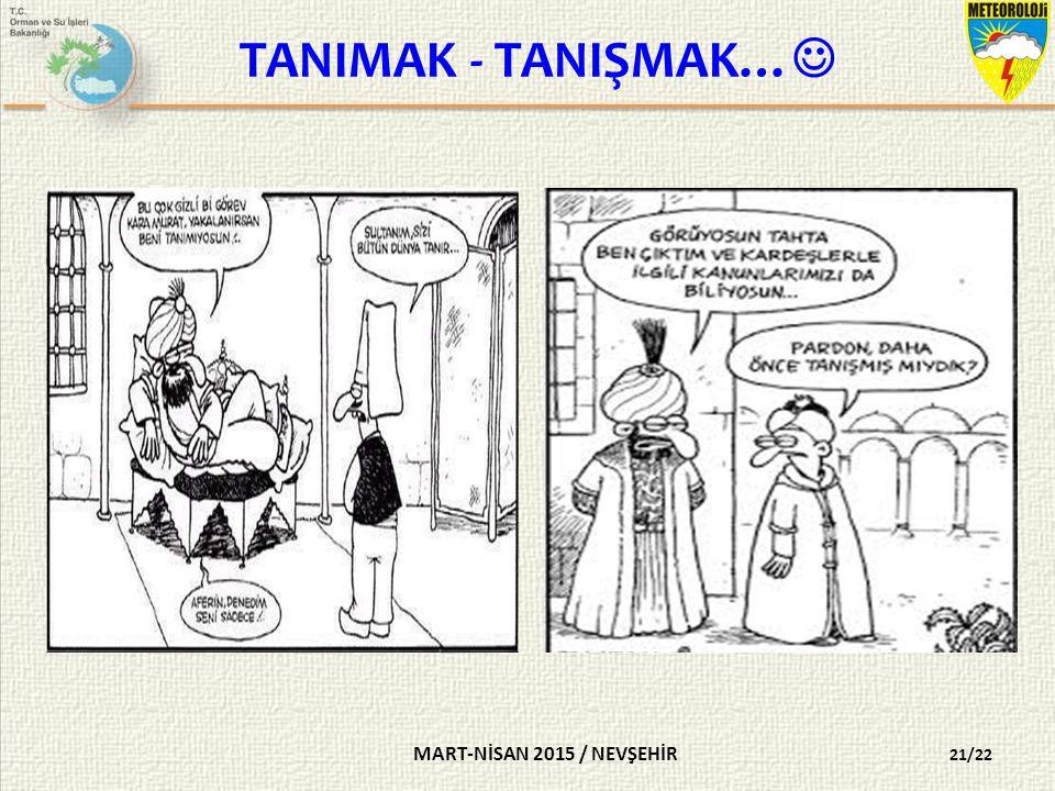 TANIMAK - TANIŞMAK… MART-NİSAN 2015 / NEVŞEHİR