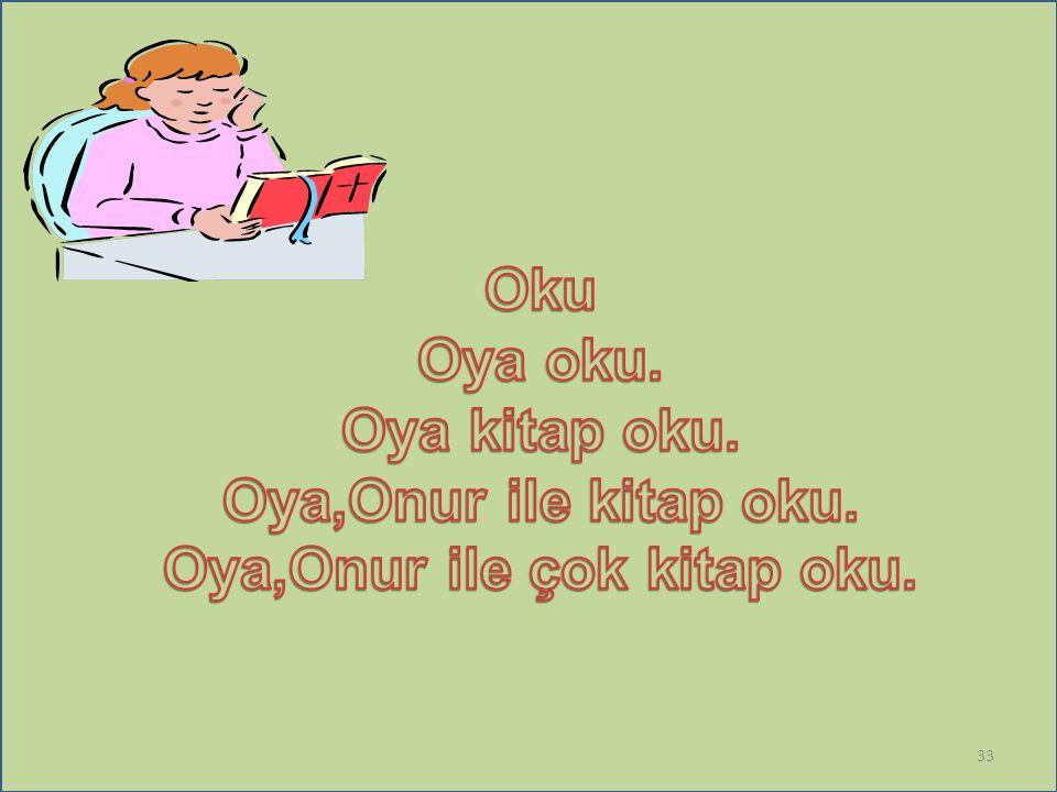 Oya,Onur ile çok kitap oku.