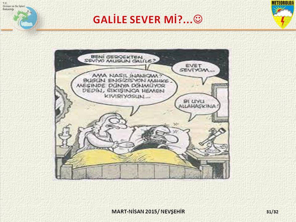 GALİLE SEVER Mİ ... MART-NİSAN 2015/ NEVŞEHİR