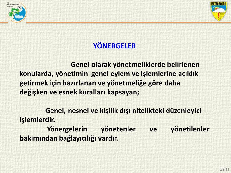 YÖNERGELER
