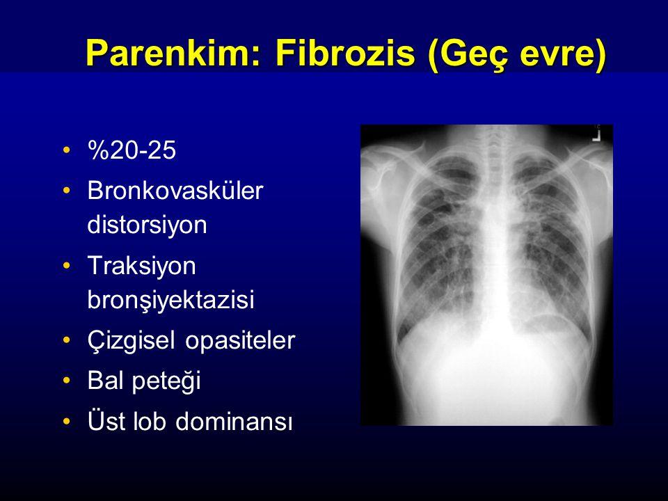 Parenkim: Fibrozis (Geç evre)