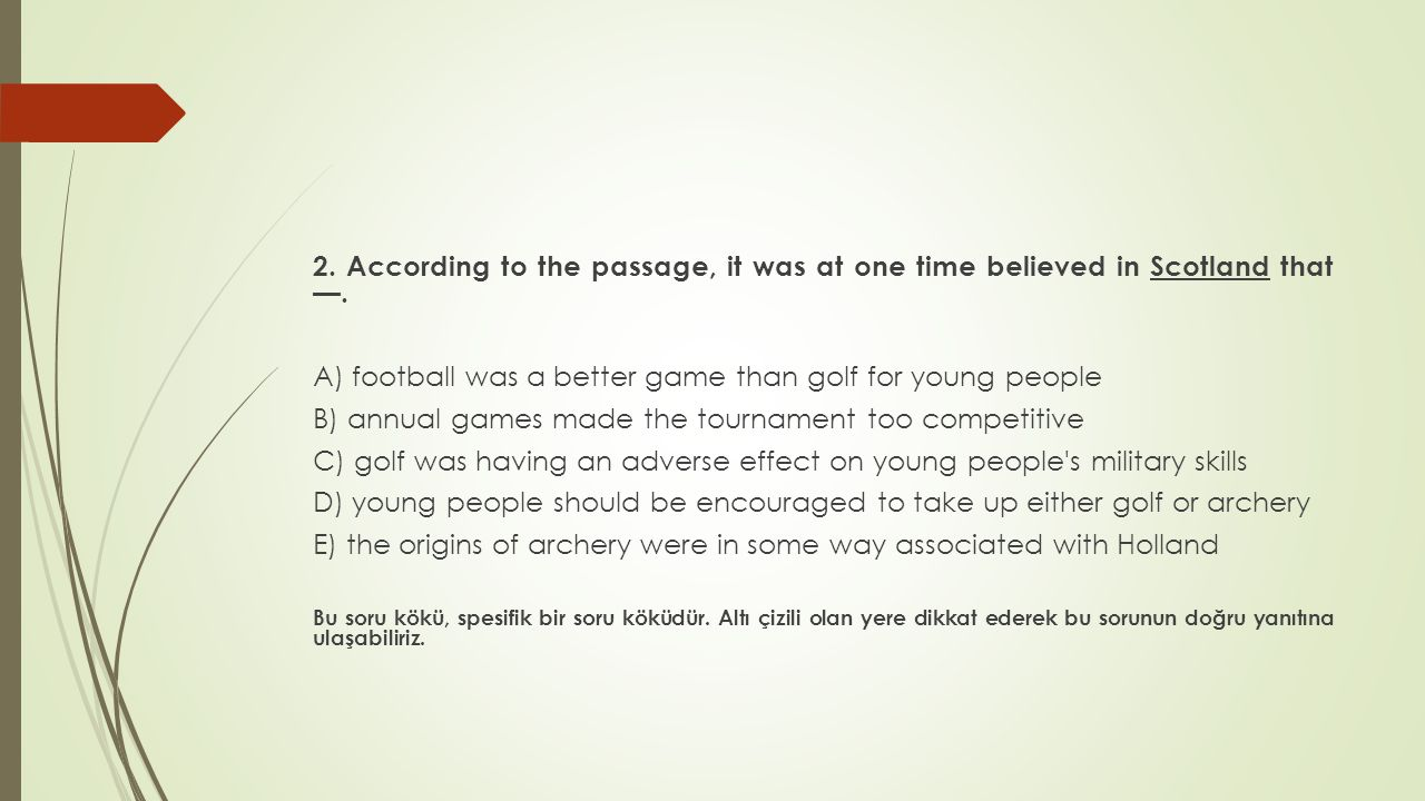 A) football was a better game than golf for young people