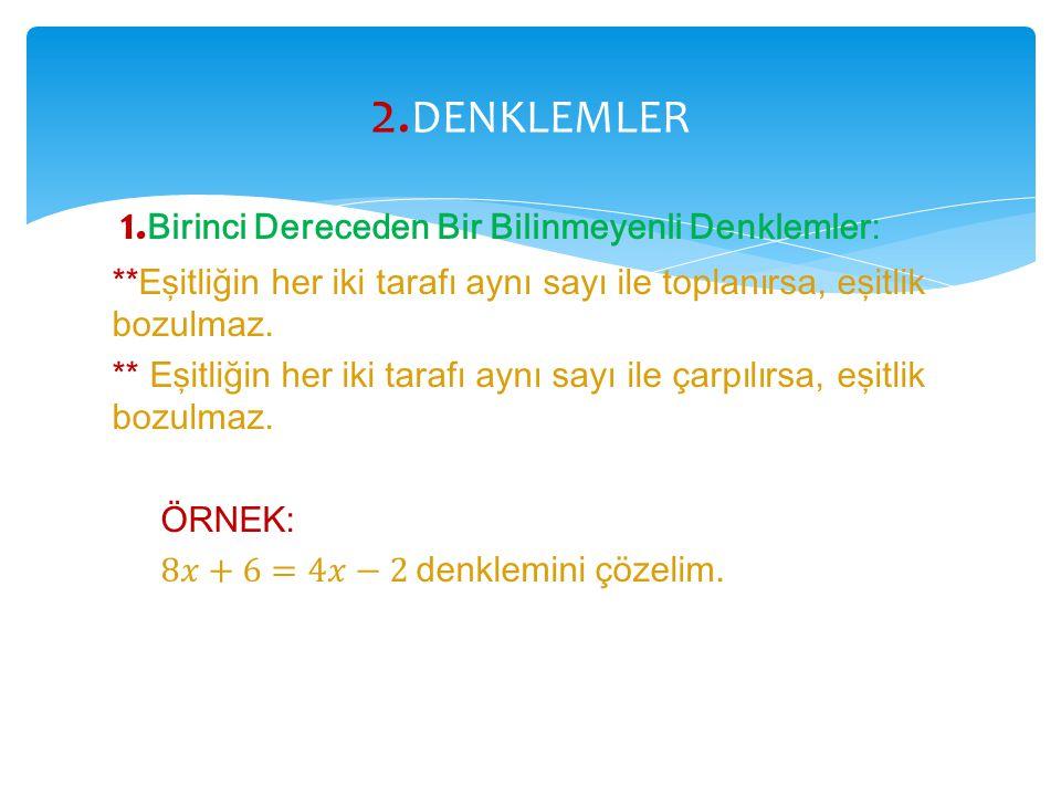 2.DENKLEMLER