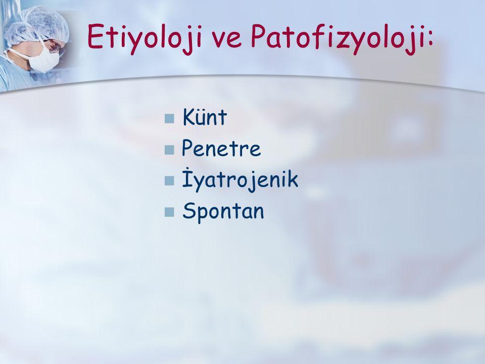Etiyoloji ve Patofizyoloji: