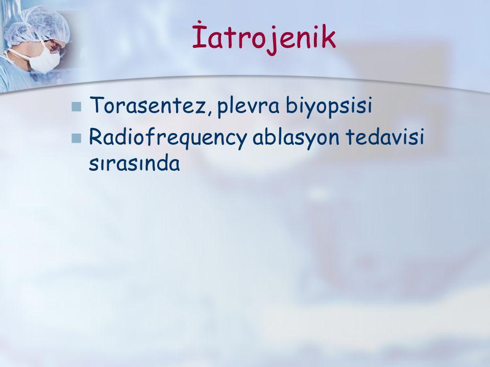 İatrojenik Torasentez, plevra biyopsisi