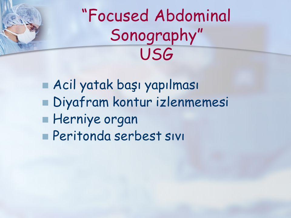Focused Abdominal Sonography USG