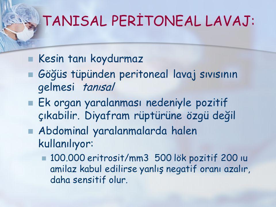 TANISAL PERİTONEAL LAVAJ:
