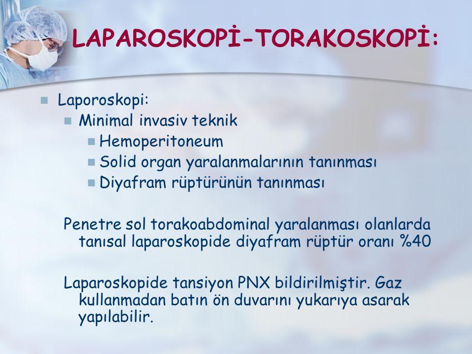 LAPAROSKOPİ-TORAKOSKOPİ: