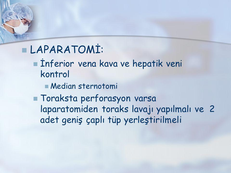 LAPARATOMİ: İnferior vena kava ve hepatik veni kontrol