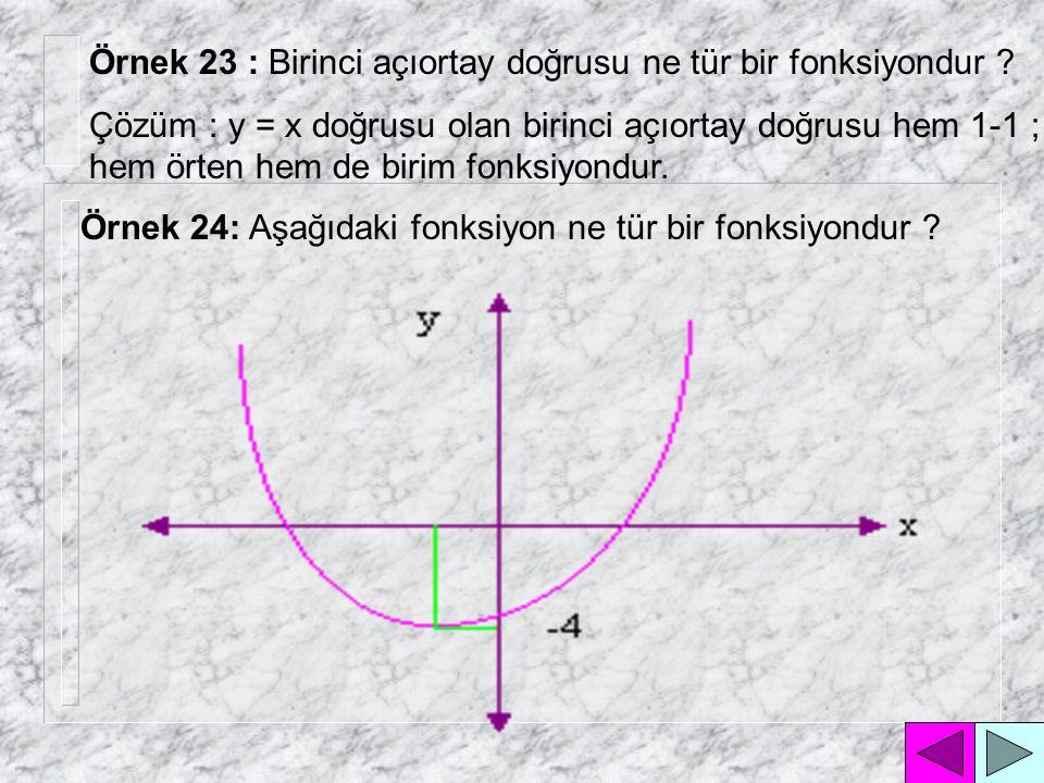 Örnek 23 : Birinci açıortay doğrusu ne tür bir fonksiyondur