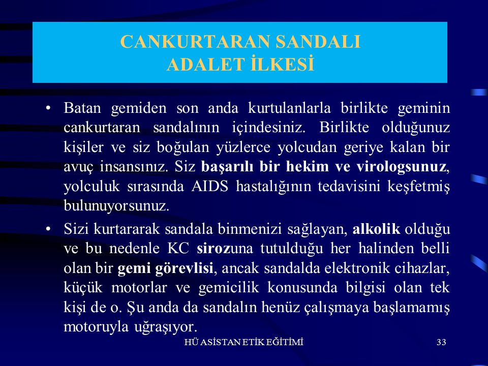 CANKURTARAN SANDALI ADALET İLKESİ