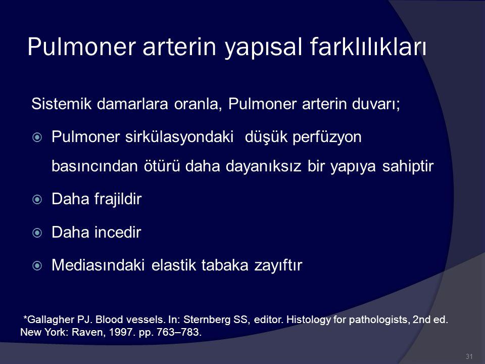 Pulmoner arterin yapısal farklılıkları