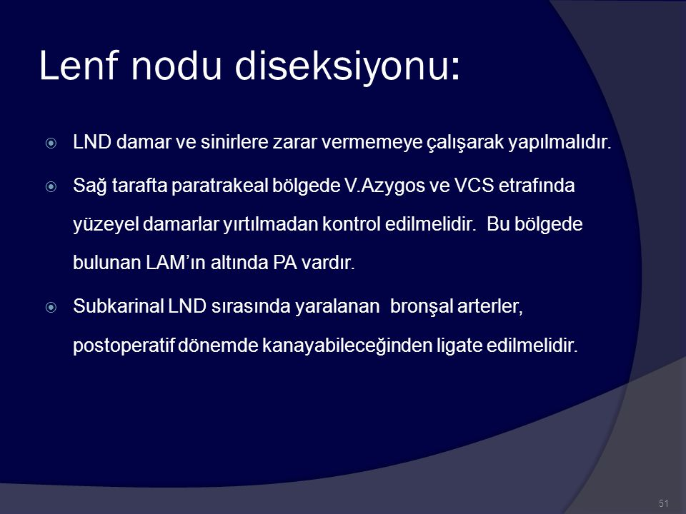 Lenf nodu diseksiyonu: