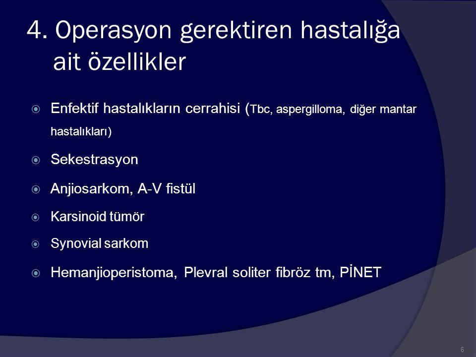 4. Operasyon gerektiren hastalığa ait özellikler
