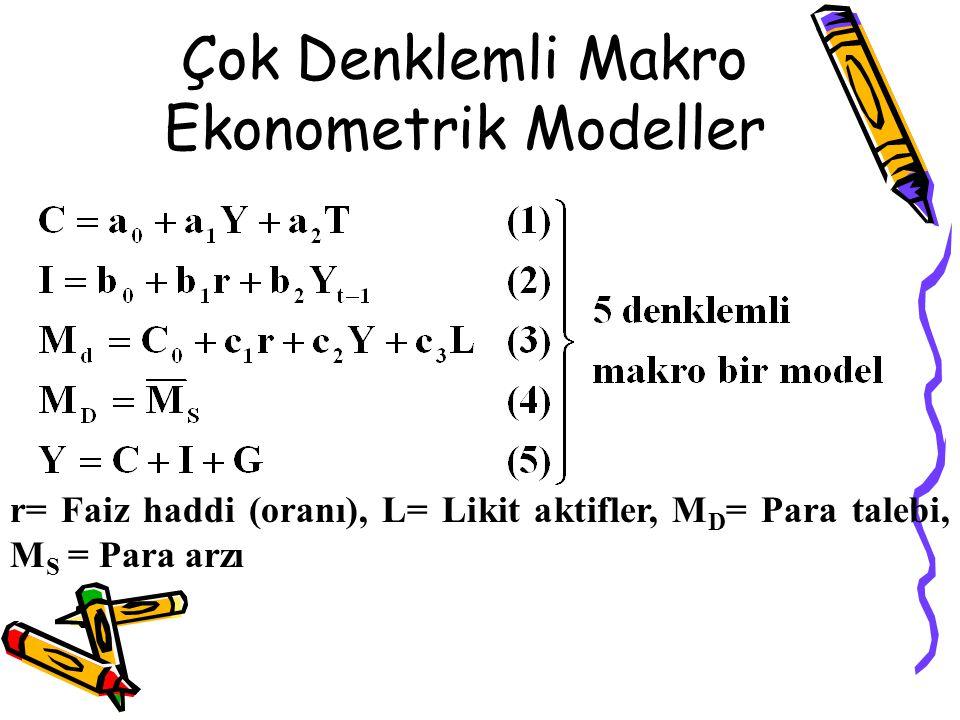 Çok Denklemli Makro Ekonometrik Modeller