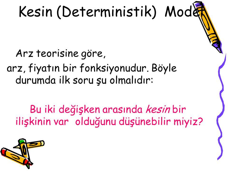 Kesin (Deterministik) Model