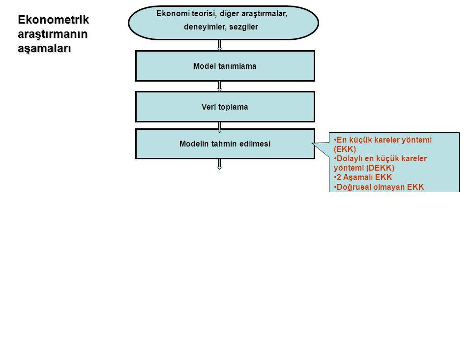 Ekonomi teorisi, diğer araştırmalar, Modelin tahmin edilmesi