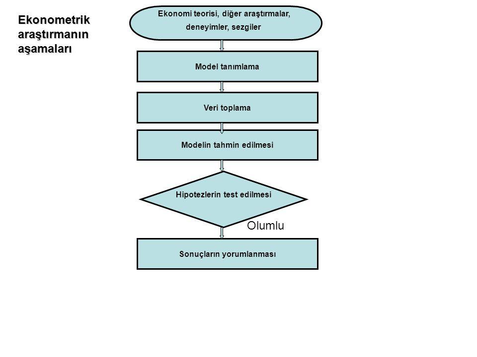 Ekonometrik araştırmanın aşamaları