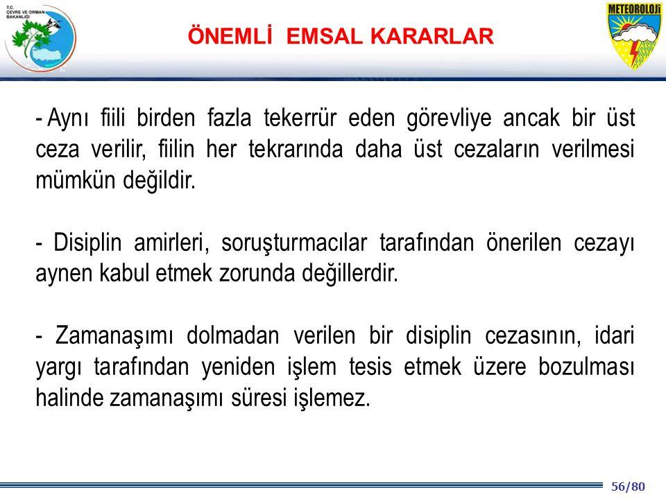 ÖNEMLİ EMSAL KARARLAR
