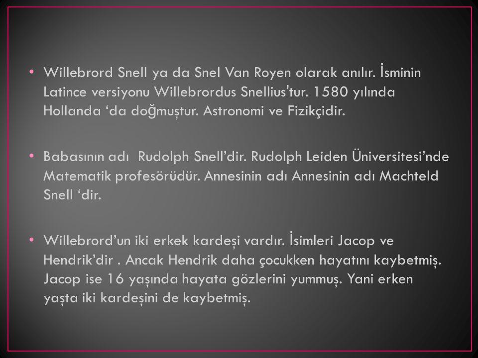 Willebrord Snell ya da Snel Van Royen olarak anılır