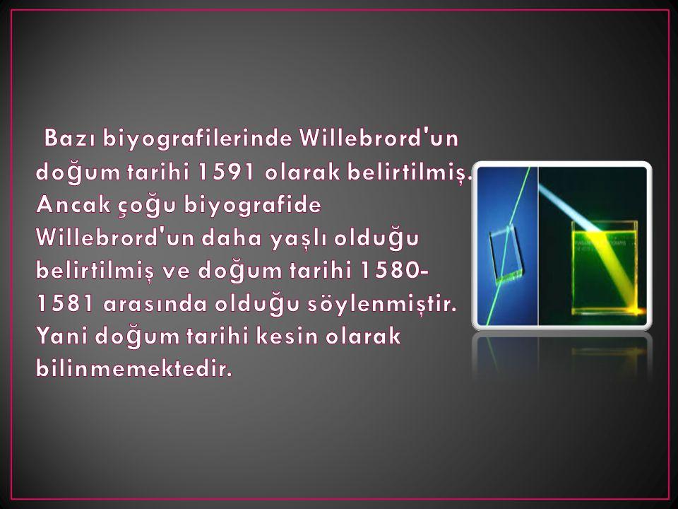 Bazı biyografilerinde Willebrord un doğum tarihi 1591 olarak belirtilmiş.