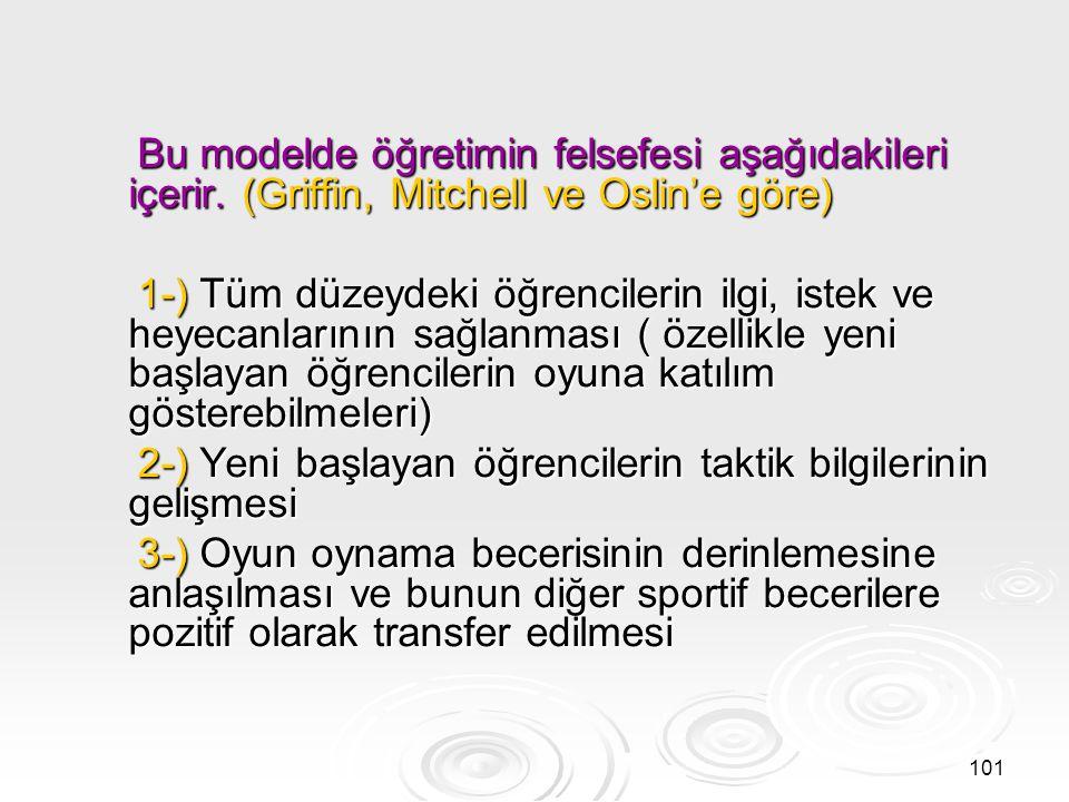 2-) Yeni başlayan öğrencilerin taktik bilgilerinin gelişmesi