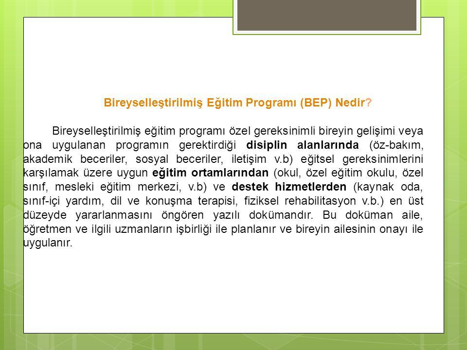 Bireyselleştirilmiş Eğitim Programı (BEP) Nedir