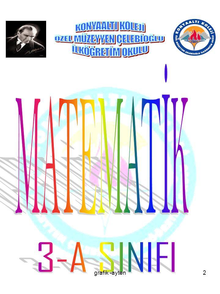 MATEMATİK 3-A SINIFI grafik -ayten