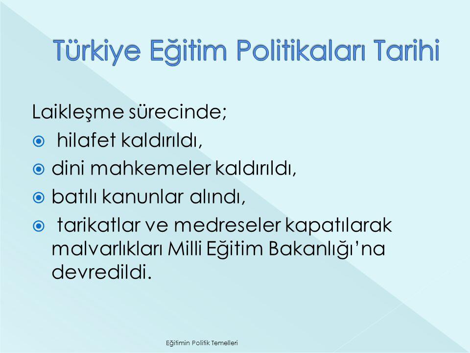 Türkiye Eğitim Politikaları Tarihi