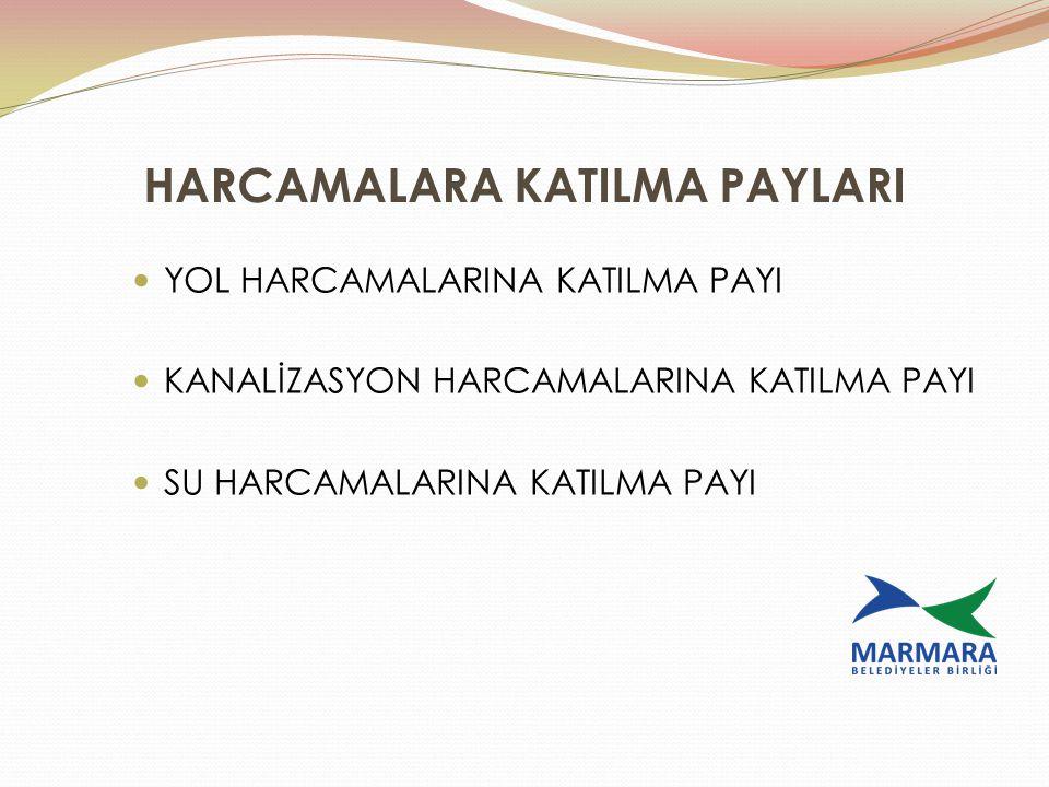 HARCAMALARA KATILMA PAYLARI